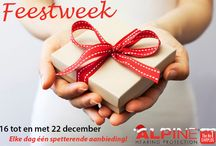 Feestweek / In de week van 16 tot en met 22 december viert Alpine feest. Elke dag is er één spetterende aanbieding met Alpine producten.