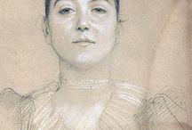 デッサン 肖像画