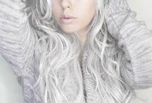 WHITE HAIR ENCHANTING / The perfect shade of white hair isn't the easiest to accomplish.  I lust after it.  Maybe because my hair is so dark. / Rene' Kimzey adlı kullanıcıdan