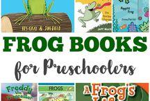 Preschool books on frogs