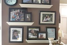 Photos and shelves display / by Julia Christy Foringer