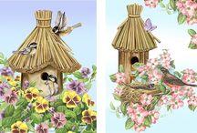 Птицы / Картинки для декупажа
