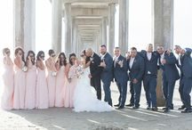 Navy Blue, Gray and Pink Wedding Color Inspirations
