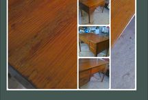 OFFICE DESK - FURNITURE RESTORATION / This is an office desk , dated back to 1960's , that i've restored and conservate resulting in  revelation of it's hidden aesthetics and value , under an attentive procedure respecting the cultural heritage of an old type furniture.