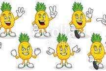 Fruit character, Fruit mascot