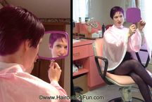 Kat's Bleaching and Purple Haircoloring / Photos from Kat's Bleaching and Purple Haircoloring video. You can buy the video at http://www.haircuttingfun.com