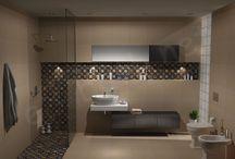 collection Link / Σχέδια μπάνιου με πλακάκια πό την σειρά Link με διάσταση 41x41 cm και επιφάνεια ΜΑΤ.