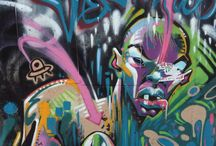 Graffiti / Art on walls, and the diversity between cultures.