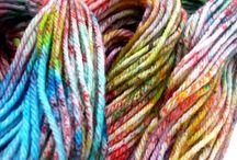 Beautifully colored yarn