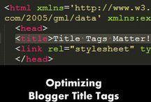 Blogger Tutorials & How to / Useful tutorials on the blogging platform Blogger.