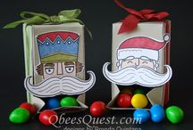 gift box punch board crafts