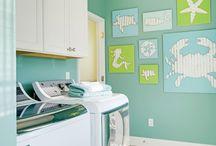 Turquoise laundry