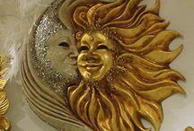 Месяц и солнце