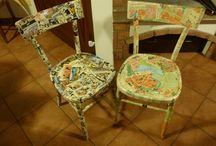 For the home / decoupage chair