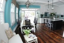 Turquoise kitchen & dining rooms / by BettyBossyBoots
