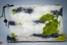 Small Cosmetic Bag / Felted small cosmetic bags