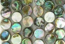 Abalone Shell beads, Abalone cabochons and handmade jewelry / Abalone Shell beads, Abalone cabochons and handmade jewelry, bead for jewelry making
