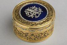 Boxes; snuff, jewellry etc