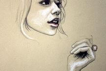 My art board / Pastels etc