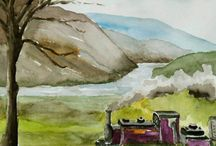 My Artistic Journeys - Travelogue / My travels with my paints and Brushes. A Travelogue of my Plein Air Paintings
