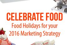 Food Holidays / Celebrate food and drive business to your store all year long with food holidays