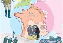 carte histoire de france 20es