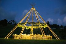 Naked Teepees - 2016 Trend Alert! / The last trend for teepees. Lose the canvas and adorn the beautiful teepee poles with fairy lights, flowers and chandeliers. Perfect for the ultimate alfresco chill out area, intimate outdoor supper or ceremony backdrop.