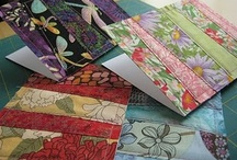 Fabric greeting cards and Tags