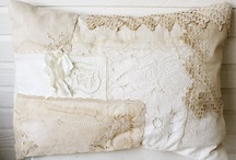 BURLAP, CANVAS, AND/OR LACE  / With a LOT of SHABBY thrown in...... / by Karen A Lambert Designs *KALDesign