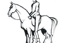 Konie i jeździectwo / Tablica o jeździectwie opartym na wspólnym zrozumieniu i porozumieniu jeźdźca i wierzchowca.