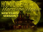 Homicide at the Harrison House - New Year's Eve Version, Murder Mystery Party / An exciting New Year's Eve traditional old mansion Murder Mystery for 20-75 guests, ages 14+. This large game can be played as CO-ED, all female . or all male with the 20 required characters. *We also have a Holiday version of this game, as well as a non-holiday version of this game.