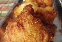 food fried chicken & bbq sauces