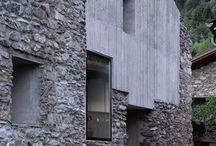 concrete & brick walls