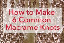 Macrame Knots and Patterns