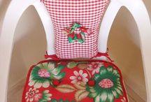 almofada e capa de cadeira