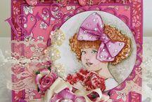 Pink Gem Designs Cards by Julie Gleeson