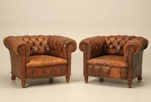 Leather Club Chairs / by Antiques on Old Plank Road