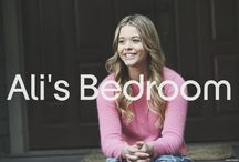 Ali's Bedroom / Items and photos from the #PrettyLittleLiars Set!