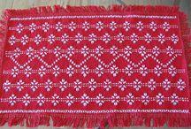 Swedish Weaving / Table Runners, Afghans