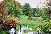 Garden Party / Flowers and natural decorations help set the mood for a magnificent garden party.