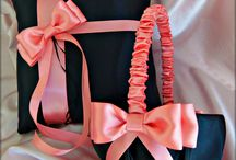 Wedding - Ring bearer pillow and basket