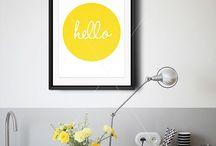 Katie's yellow art prints / by Garn Syberg-olsen