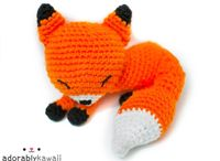 crochet fox / knitting fox / fox DYI