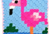 Was ich noch häkeln will / http://www.wollplatz.de/blog/ecke-zu-ecke-pixelmaschen/
