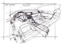 car sketch-interior
