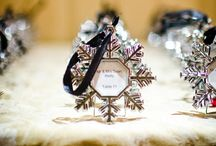 Winter wedding seating plans / More winter ideas on our blog at http://www.toptableplanner.com/blog/im-dreaming-of-a-white-wedding-with-every-snowflake-name-card-i-write