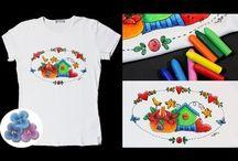 Camisetas apliques pintura