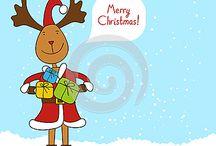 Christmas greeting cards / Christmas greeting cards vector illustrations