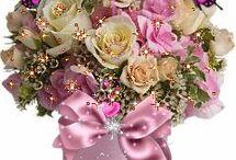 Цветы , сердечки и т.д.