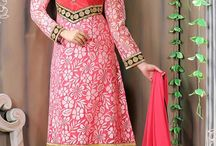 Brasso Salwar Kameez / Beautiful Net Brasso and Crepe Salwar Suit with embroidery
